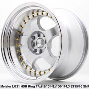 RACING VELEG MOBIL TIPE BRISKET HSR R17X85/10 H8X100-114,3 ET15/10 SML