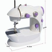 Mesin Jahit 2 In 1 Alat Jahitan Pakaian Baju Mini Portable Sewing Machine 2in1