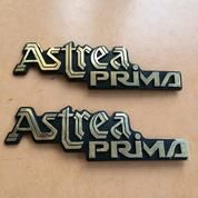 "Emblem Logo Tulisan ""ASTREA PRIMA"" - Untuk Honda PRIMA - Mulus"