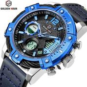 GOLDEN HOUR GH120 Original Blue - Jam Tangan Army/ Military Watches Dual Time