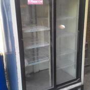 Showcase / Cooler Jumbo 2 Pintu Sliding Kaca Bekas