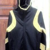 Jaket Hoodie Nike Therma-Fit Black Gold Original Untuk Jogging / Udara Dingin