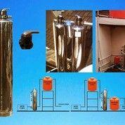 Filter Air Tanah Berbesi Tinggi Mangan Stainless Steel +Pasang