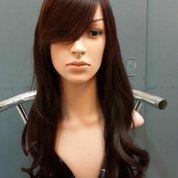 Distributor Wig Wanita Terbaru   Wig Wanita Eksklusif   Wig Wanita Panjang Curly Darkbrown