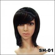 Supplier Wig Wanita Terbaru - Rambut Palsu Murah - Wig Wanita Pendek Hitam