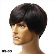 Distributor Wig Pria Korean   Rambut Palsu Cowok Terbaru   Wig Pria Murah Hitam