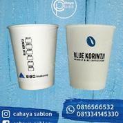 Sablon 2 Warna Paper Cup 8 Oz