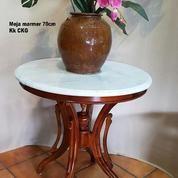 Meja Pajangan Marmer Antik 70cm