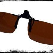 Kacamata Clip Ons Polarized Coklat