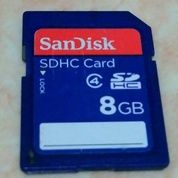 SANDISK SDHC CARD 8GB