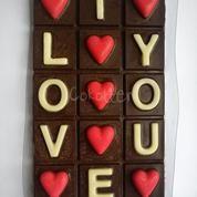 Valentine Day Cokelat Cinta LOVE Bar Besar Coklat Hari Kasih Sayang.