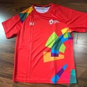 [Size M] Preloved - Official Jersey Volunteer Asian Games 2018 (RED)