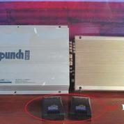 Power Audio Amplifier Mobil Punch Silver 245 Classic BONUS Miami Soundwork