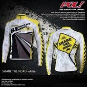 JERSEY SEPEDA POL SHARE THE ROAD WHITE