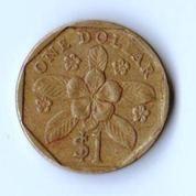Koin 1 Dollar Singapore 1995