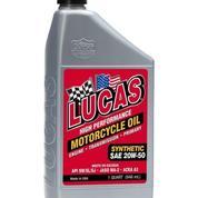 Lucas Synthetic Motorcycle Oil 20W 50 Oli Sintetik Motor