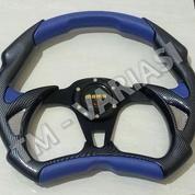 Stir Racing Momo Alien 14 Inchi Biru Kombinasi Karbon Carbon