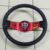 Stir Racing Import 13 Inchi 2 Palang Besi Motif Merah Universal