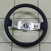 Stir Racing Import 13 Inchi 2 Palang Besi Motif Silver Universal