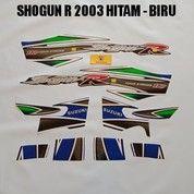 Striping Shogun R 2003 Hitam - Biru