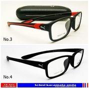 Promo Frame Kacamata Puma Sporty GRATIS Lensa Minus, Plus, Lensa Anti Radiasi, Kacamata Minus