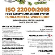 Workshop ISO 22000 Food Safety Management System (27 April 2019)