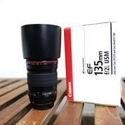 Lensa Canon EF 135mm F 2 L USM Kode UB0617 Super Mulus