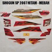 Striping Shogun SP 2007 Hitam - Merah