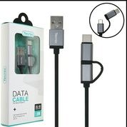 Kabel Data Kabel Charge Fast 3.1A 2in1 Micro Plus Type C