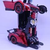 Mainan Mobil Robot Remote Control Transformer Lamborghini Bugatti Veyron