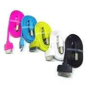 Kabel Data / USB Zola Iphone 4 - 2A 100CM (Pipih / Gepeng)