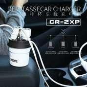 Remax Car Charger Demitasse CR-2XP Charger Mobil 2 Slot Lighter & Usb