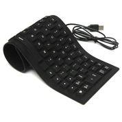 Keyboard Flexible USB External Anti Air Elastis Lembut Gulung Lipat