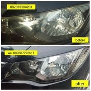 Poles Clean Kaca Mobil / Kaca Lampu Headlamp Mobil Berkilau
