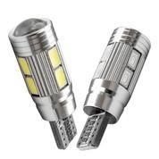 Lampu LED Mobil Motor Senja T10 CANBUS 10 Mata/SMD