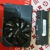 RAM DDR3 4GB Corsair + VGA Nvidia 1050 Ti Single Fan