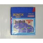 Sprei Bonita Ukuran 180x200 Motif Blue Butterfly