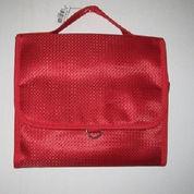 Tas Kosmetik Jinjing Merah Multi compartment