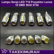 Lampu LED Senja Sein Mobil Motor Socket T10 Tancap 12V 10 Mata 5730 (Satuan Biji)