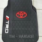 Karpet Mobil Universal Motif Logo Toyota Merah TRD Hitam Polos