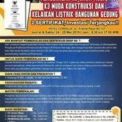 Pelatihan Dan Sertifikasi K3 Umum Muda, K3 Konstruksi, Dan Pemeriksa Kelaikan Listrik Gedung