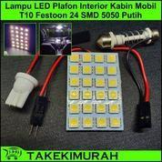 Lampu LED Plafon Kabin Interior Mobil Chip SMD 5050 24 Mata