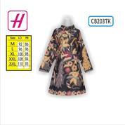 Batik Wanita Modern, Model Dress Batik, Baju Dress Batik, CB203TK