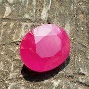 Batu Pink Sapphire Cutting Permata