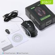 Mouse Gaming - Robot MG600 Gaming Mouse Black - Hitam