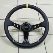 Stir Racing Leather Import OMP Celong 14 Inchi Palang Hitam List Kuning