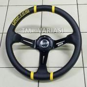 Stir Racing Import Drifting Celong 14 Inchi Palang Hitam List Kuning