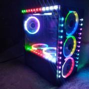 Casing PC Armageddon Infineon 1000 7 Fan RGB 4 Strip Aurora