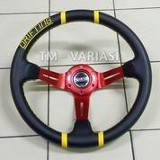 Stir Racing Import Drifting Celong 14 Inchi Palang Merah List Kuning
