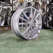 Velg Mobil Ring 14 HSR MS605 Baut 4 Pcd 4x114,3 ET45 Warna Silver